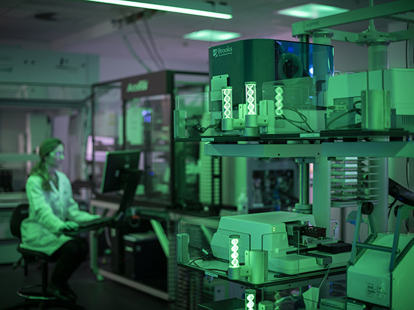 A scientist working in the National Drug Discovery Centre at WEHI
